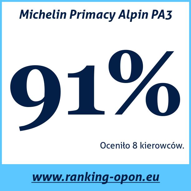 Test pneumatik Michelin Primacy Alpin PA3