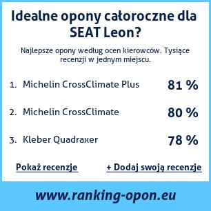 Opony Całoroczne Seat Leon Ranking Oponeu