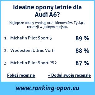 ranking opon na Audi A6